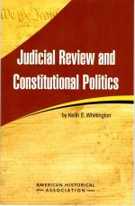 Judicial Review and Constitutional Politics