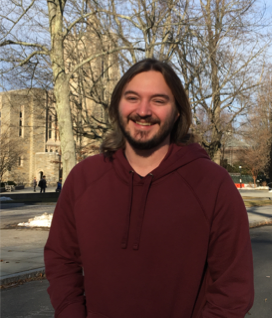 Photo of Jared Wilmoth outside Guyot Hall