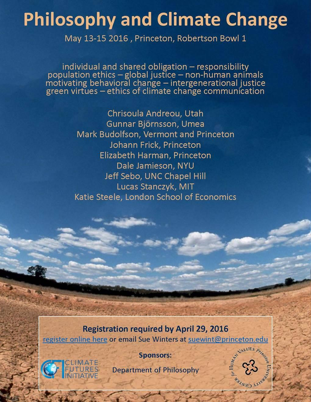 Philosophy and Climate Change conference