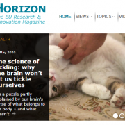 Screenshot from Horizon Magazine showing the Tickling article featured