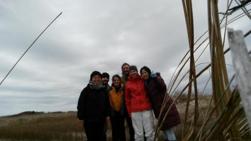 Zhang Group in the Sippiwisett Marsh
