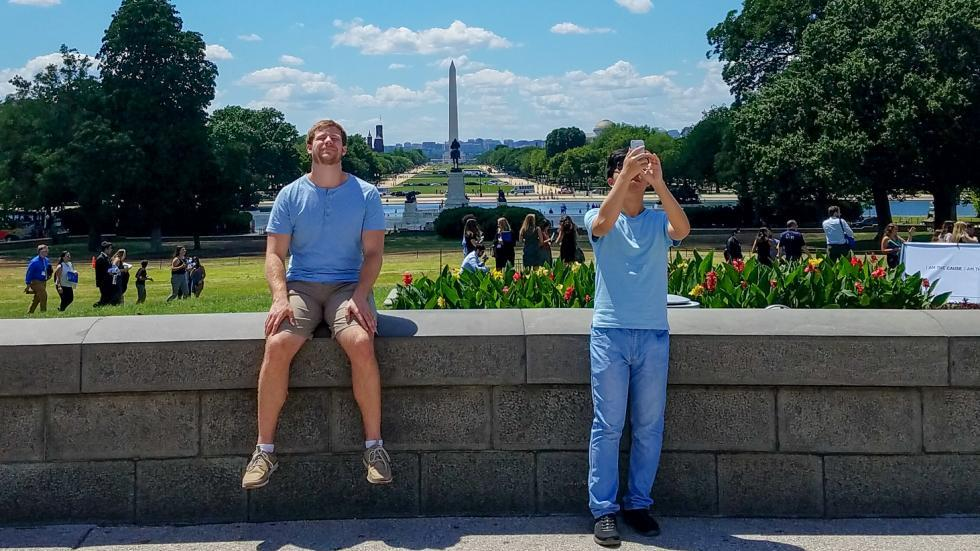 Tim and Bokai in DC